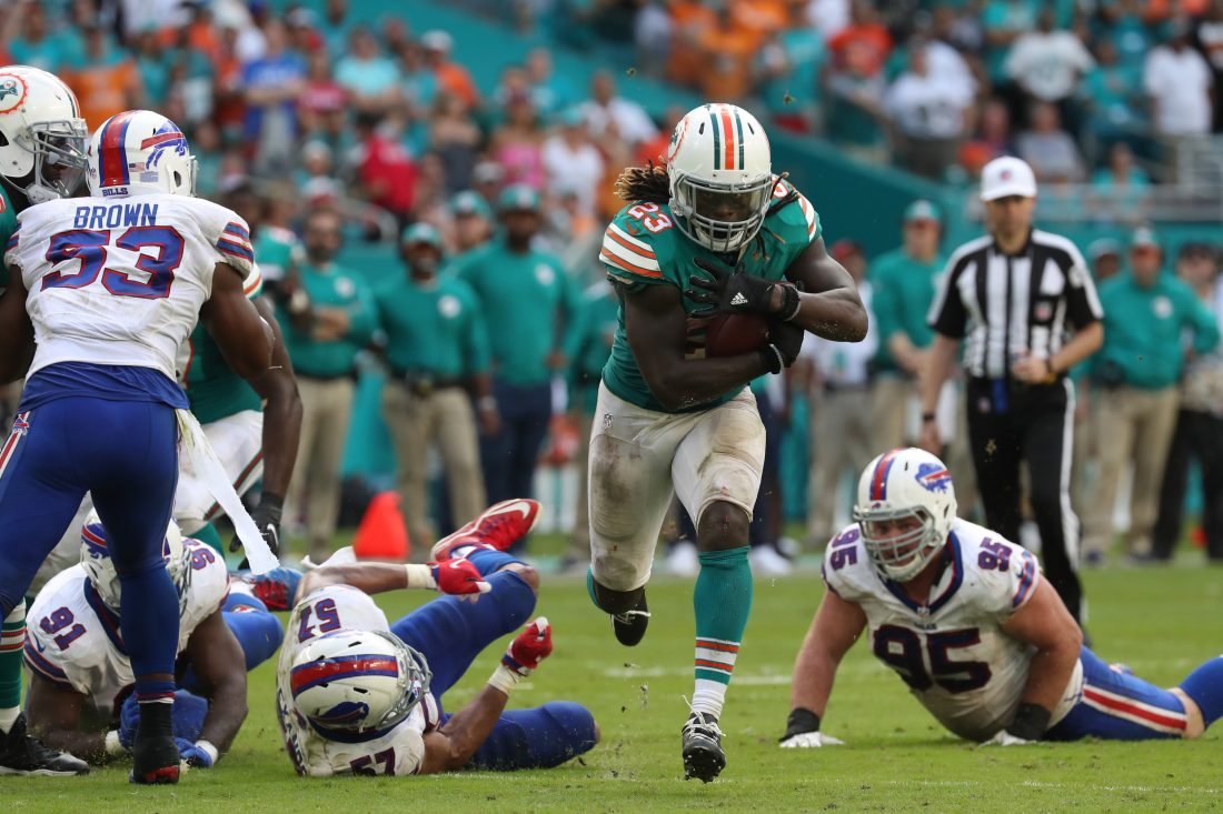 Give Ajayi space, and he'll rip off a monster gain... but he doesn't get space consistently.