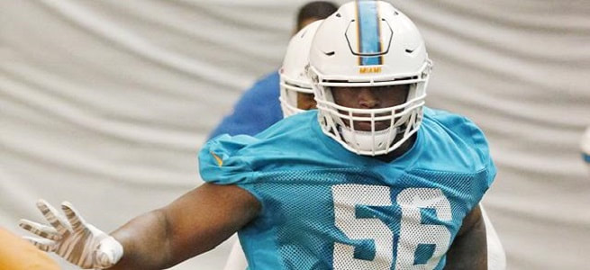 With McMillian injured, only Godchaux appears to be starter material from the 2017 Draft